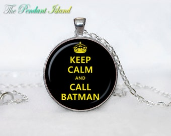 Keep calm and carry on pendant keep calm and carry on necklace keep calm and carry on pendant for men for her for women colorfull black
