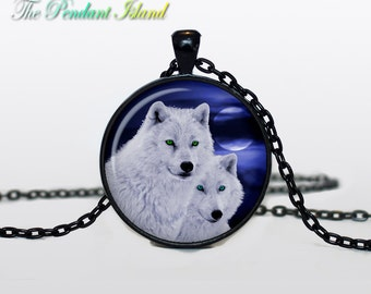 WOLF Pendant wolf necklace wolf couple wolf jewelry Loyalty necklace Loyalty pendant wolves jewelry (P2007)