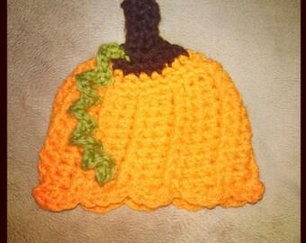Preemie/Newborn Baby Pumpkin Hat