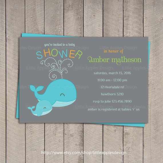 whale baby shower invitation baby shower wale invitation whale