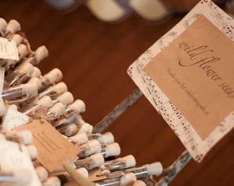 Rustic Wedding Favors, Flower Seed Wedding Favors, Corked Wildflower Seed Tubes