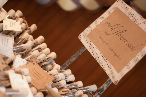 flower seed wedding favors rustic wedding favors flower seed wedding favors corked 4208