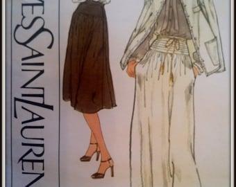 Vogue  Paris Original  Yves Saint Laurent  1761  Size 14  Uncut
