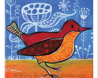 Bird Wall Illustration - Bird Wall Art - Bird Painting