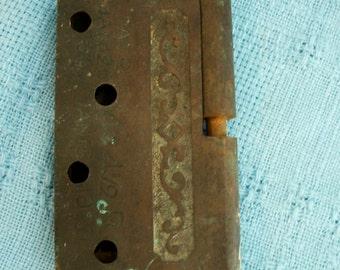 Victorian Door Hinge Cast Iron Circa 1870s