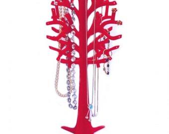 Red Acrylic Jewellery Tree