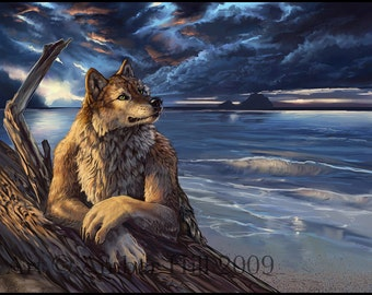 Pacific Northwest Coastal Werewolf Fine Art Print
