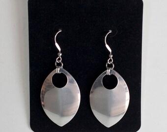 Scale Earrings - Aluminum