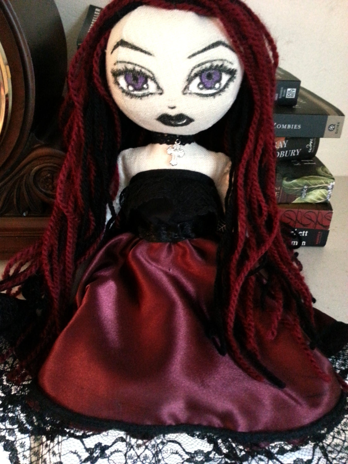 Handmade Gothic Harajuku Fashion W H Naoto Spiderweb Bag: RESERVED For Autumn Handmade Gothic Doll AnnaBelle