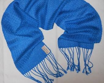 Ming Blue Tencel Handwoven Scarf
