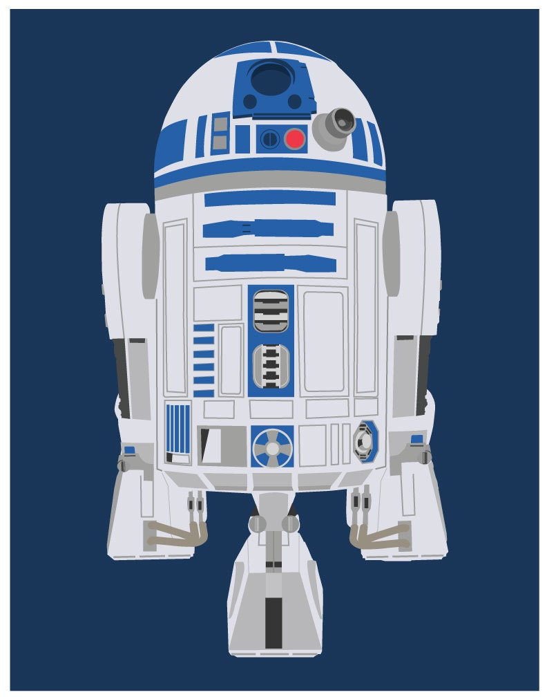 Star wars 11x14 poster r2d2 star wars poster r2d2 print for 11x14 paper size