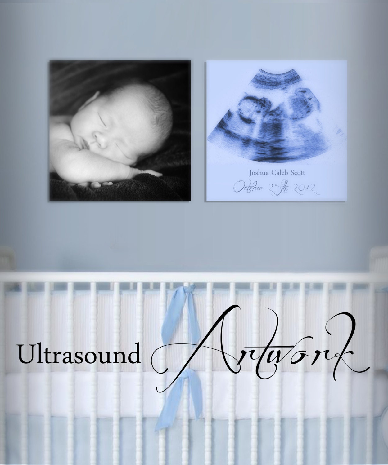 Sonogram Art Work For Baby 39 S Room Decor 8x8 By UltrasoundArtwork