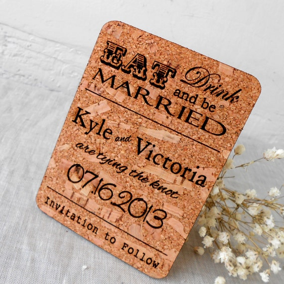Cork Wedding Invitations: Save The Date Cards Rustic Save The Dates By