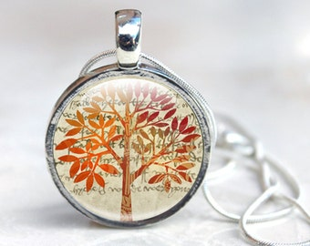Glass Necklace Tree - Tree Glass Necklace - Tree Necklace