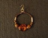 Goddess Ear Candy - Leather Hoop Earrings, Beaded Hoop Earrings, Boho Earrings, Fashion Jewelry