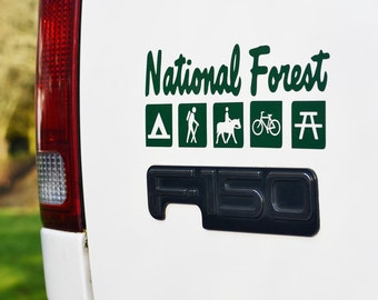National Forest Trail Symbol Decal