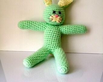 Heather the Green Bunny Rabbit