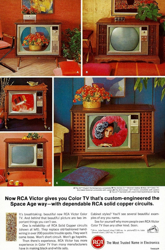 Vintage Television Ad 1960 S Rca Victor Space Age Color