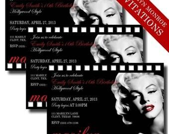 hollywood invites  etsy, party invitations