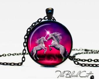 Unicorn pendant Unicorn necklace Unicorn jewelry fantasy style art gift (PU0004)