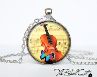 Violin pendant Violin necklace Violin jewelry for musician music pendant (PM0001)