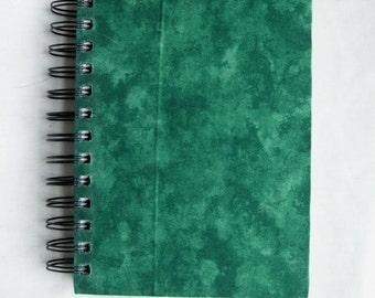Green Motley Fabric Notebook