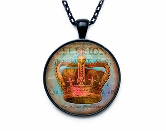Royal Crown pendant, crown necklace pendant, crown jewelry