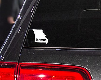 Missouri Home. Decal Car or Laptop Sticker
