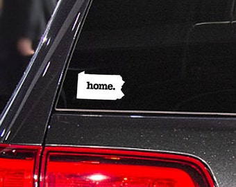 Pennsylvania Home. Decal Car or Laptop Sticker