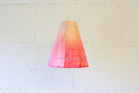 pink pendant l shade by factorytwentyone on etsy