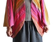 Gradation Color Thai Silk Cocoon Jacket (JTS-001-02)
