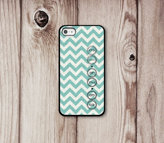 Chevron Date iPhone Case - Iphone 4 - Iphone 5 - Iphone 4s - Wedding Date - iPhone Cover - Chevron iPhone Cases by Luv Your Case (299)