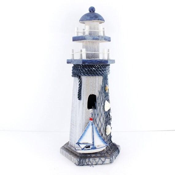 """Items Similar To 10"""" High Wood Made Sail Boat Beacon/Sea"""