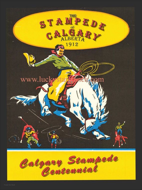 Sale 60 Off 18x24 Calgary Centennial Vintage Rodeo Poster