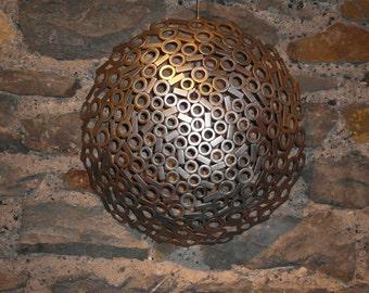 Stainless steel domed metal wall art sculpture