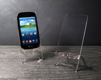 Transparent Acrylic Anroid Phone Stand Docking Station for Samsung Galaxy S5 S4 S3 Clear Plexiglas