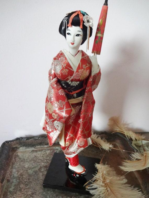 Vintage 1960 S Nishi Japanese Geisha Doll By Abbylanevintage
