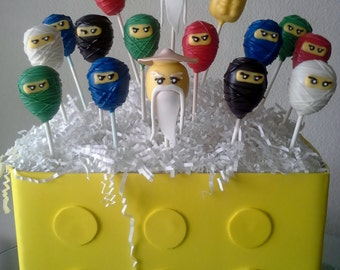 Ninja Cake Pops  - Ninja Birthday Party - Ninja Party - Edible Party Favor