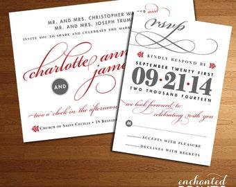 Deco Collection - Printable Wedding Invitation