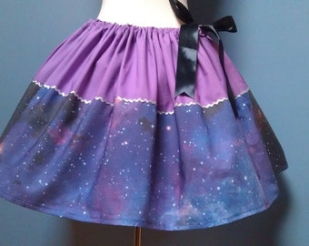 Carina Nebula, Galaxy Skirt, Space, Mini Skirt, Plus Sizes, All Sizes, OOAK