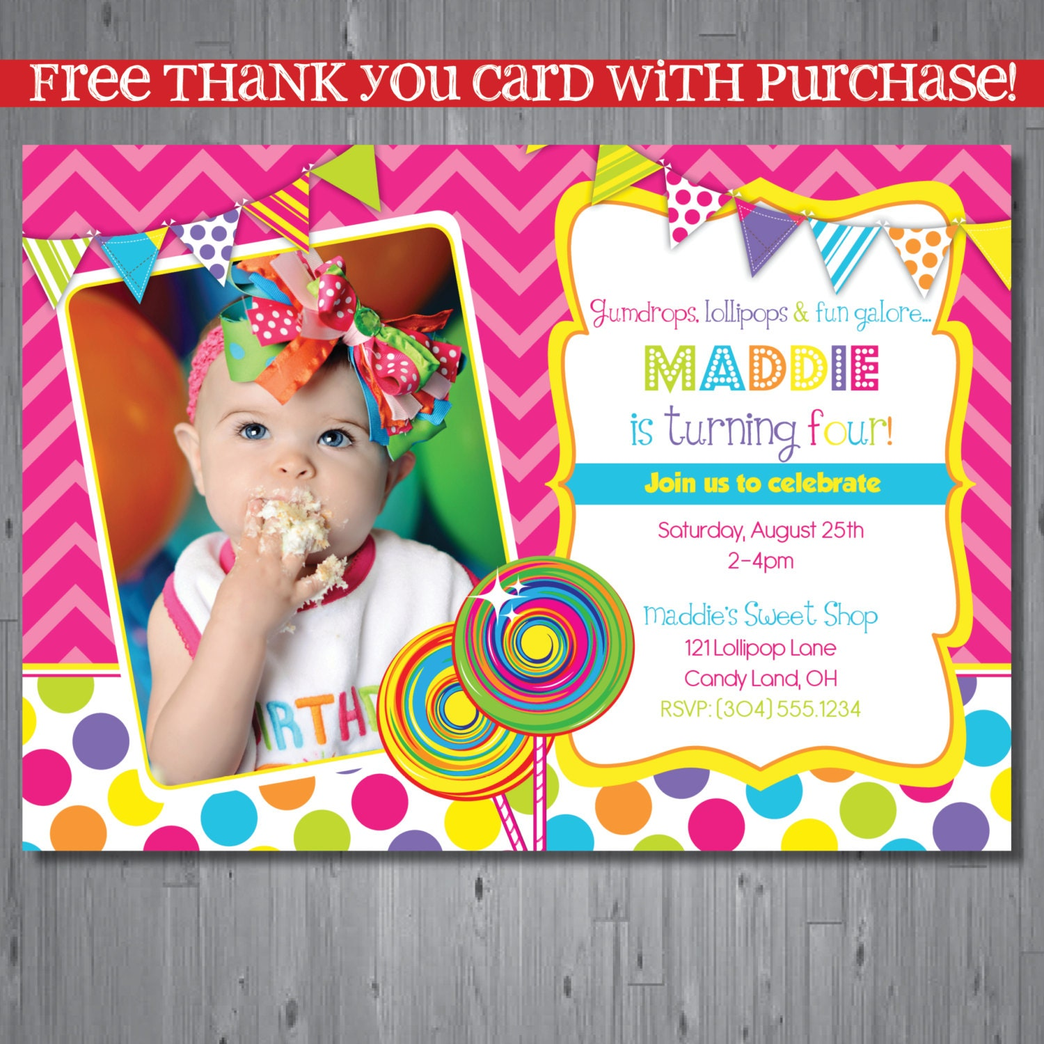 Candy Shop Birthday Invitation Candy Shop Party By