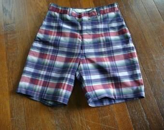 60's Plaid Mans/Boys/Girls High Waist Shorts Small