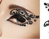 Temporary Eyeshadow Eye Makeup Christmas Holiday Stocking stuffer applique Black Rose Flower Lace Masquerade gift mardi gras bridesmaid