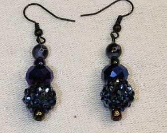 Dark Beaded Earrings