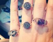 Druzy, Multicolored, Rings
