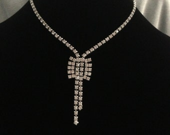 Unique Vintage Rhinestone Necklace
