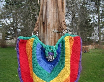 Over the Rainbow Bag Knitting Pattern PDF