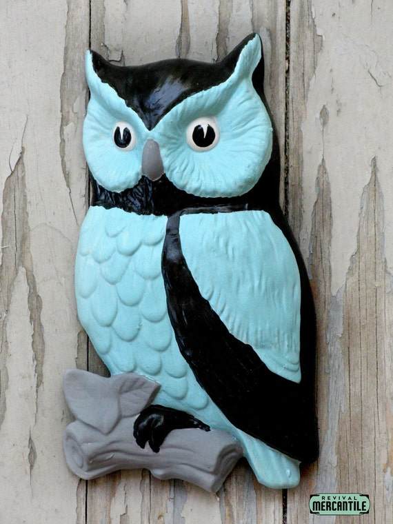 Vintage owl wall decor : Vintage s lefton ceramic owl wall decor by