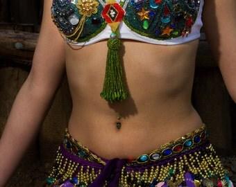 Colorful bellydance bra