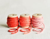 Thick Cotton Twine Pink Pack - Salmon Pink, Coral Pink & Blush Pink - 10 Yards Each